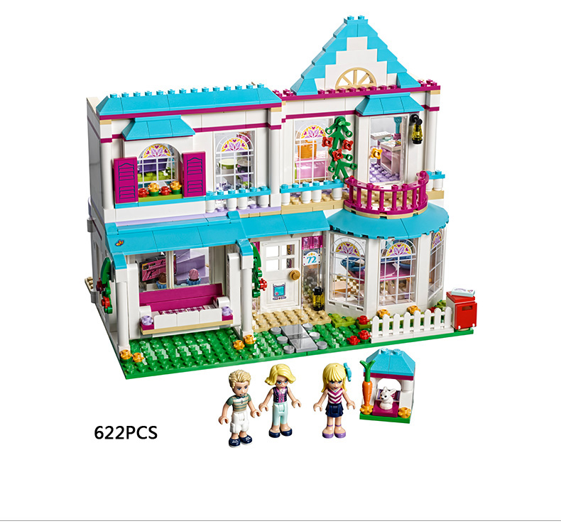 Hot My good friends building block Stephanie's fashion House mini family figures lepins bricks 41314 city toys for girls gifts hot classic movie pirates of the caribbean imperial warships building block model mini army figures lepins bricks 10210 toys