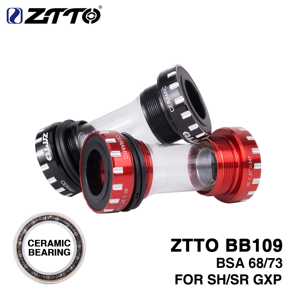 ZTTO BB109 Mountain Road Bike Thread Ceramic Bicycle External Bearing Bottom Brackets for Parts 24mm BB 22mm GXP Crankset|Bicycle Crank & Chainwheel| |  - title=
