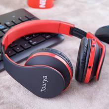 Tourya B2 Bluetooth наушники Беспроводной гарнитуры наушники С микрофоном Поддержка TF карты для ПК смартфонов музыкальный плеер