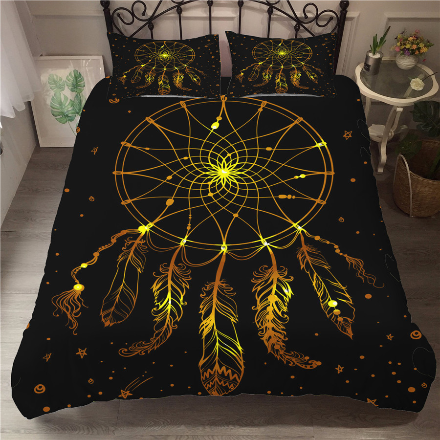 Bedding Set 3D Printed Duvet Cover Bed Set Dreamcatcher Bohemia Home Textiles For Adults Bedclothes With Pillowcase BMW14
