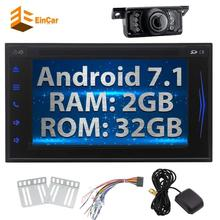 Free Backup Camera+Android 7.1 Octa-Core 2Din HeadUnit Car Stereo GPS Navigation Autoradio DVD RDS FM/AM Support WIFI OBD 3G/4G