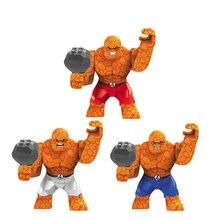 3PCS/lot Fantastic Four Benjamin Grimm Original Blocks Action toy Figures 3 style Model Thing Building blocks sets kids toys