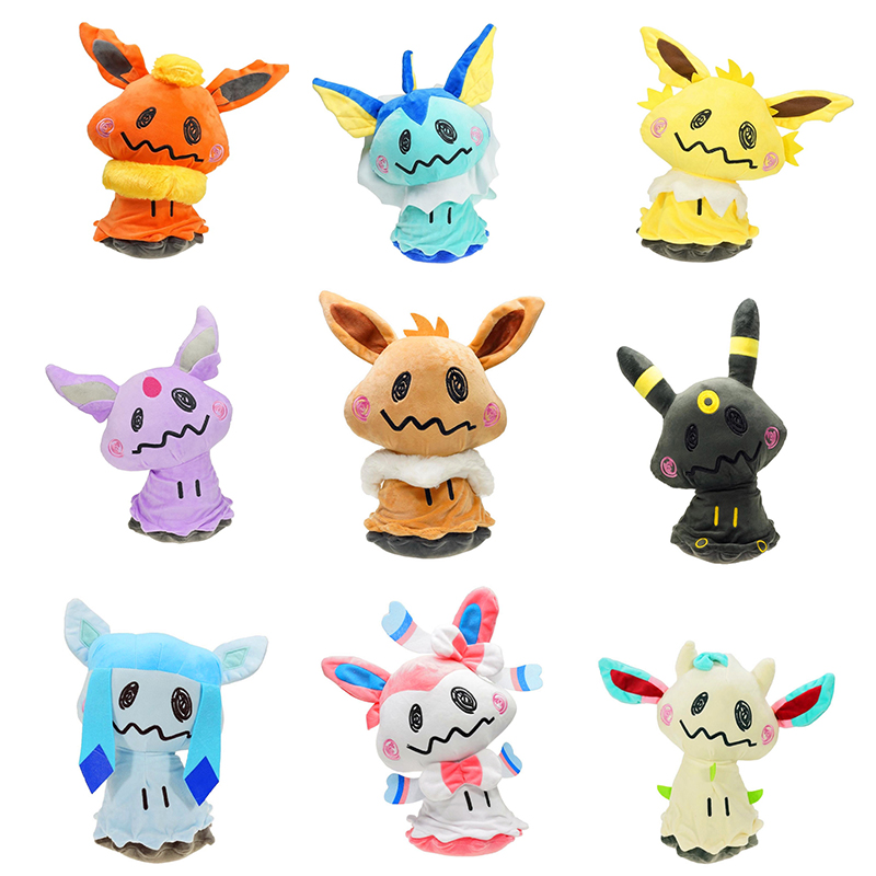 9pcs Set Mimikyu XY Pokeddll Eevee Vaporeon Sylveon Umbreon Flareon Jolteon Espeon Leafeon Glaceon Plush Stuffed