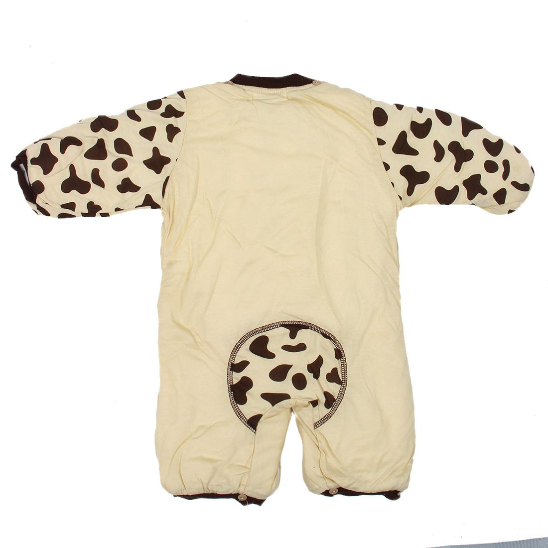 KEOL Best Sale new Autumn Winter Clothing sets Cartoon Animal Style Cotton-padded Baby boys Rompers Cows Warm Kids girls badys