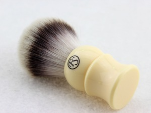 Image 2 - FS 24MM G4 Synthetic Fiber Shaving Brush Cream Color/Black Color Handle+FREE STYPTIC PENCIL+FREE SHIPPING