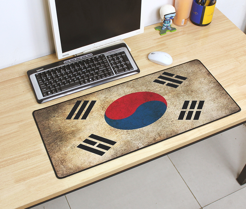 Professional Vintage Gaming Mouse Pad Plain Extend UKUSKorea Flag Desk Keyboard Mouse Mat Mousepad Gamer for Beautiful Game