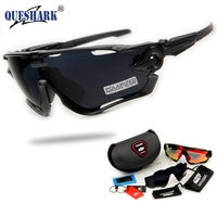 2017 Brand New Queshark Full Revoed Polarized Cycling Sunglasses Cycling Glasses For Bike Bicycle 3 Lens