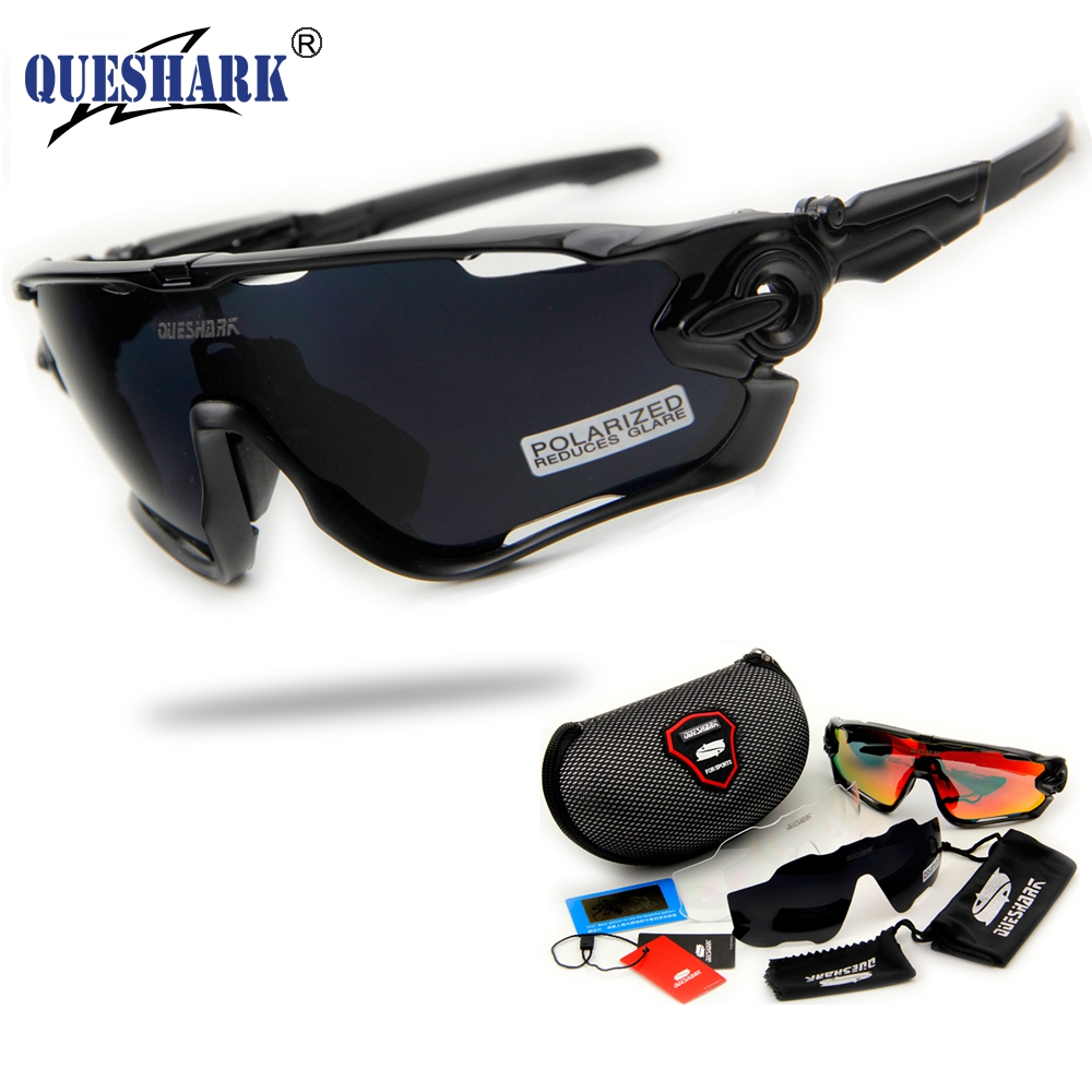 2017 Brand New Queshark Polarized Cycling font b Sunglasses b font Cycling Glasses For Bike Bicycle