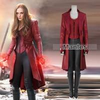 Алая ведьма косплэй Ванда костюм максимофф Мстители Бесконечность войны капитан Америка Гражданская война красный костюмы на Хэллоуин для