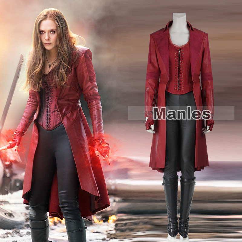 Scarlet Witch Cosplay Wanda Maximoff Costume Avengers Infinity War Captain America Civil War Red Halloween Costumes for Women
