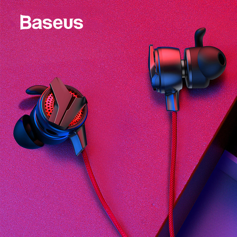 Baseus Gaming Wired Earphone Type C Game Headset With Mic Headphones For Huawei P30 P30 Pro PS4 PUBG 3.5mm Phone 3D Earbuds