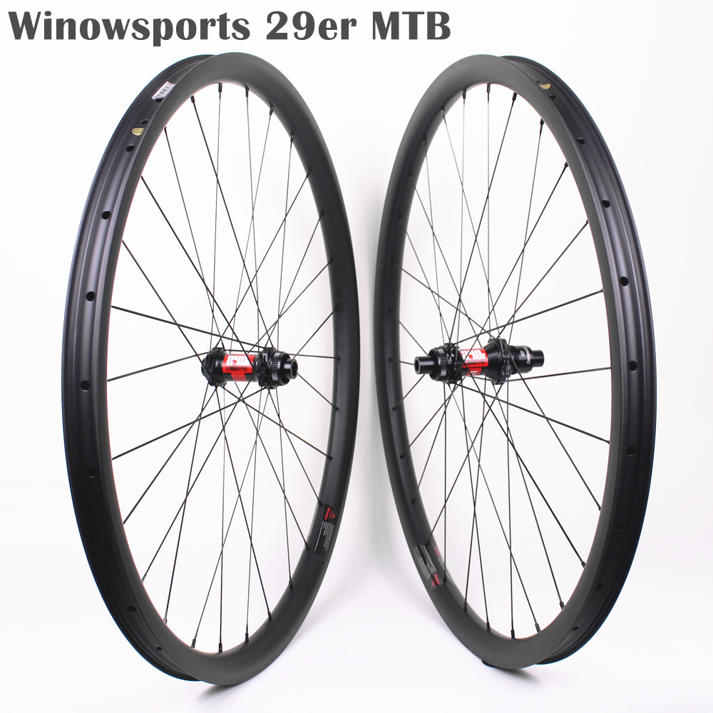Winowsports MTB 29er carbon wheels DT240S high end XC wheel mtb 29 inches cross country wheelset