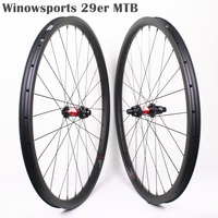 Winowsports MTB 29er carbon wheels DT240S high end XC wheel mtb 29 inches cross country wheelset Sram cassette 15*100/12*142mm