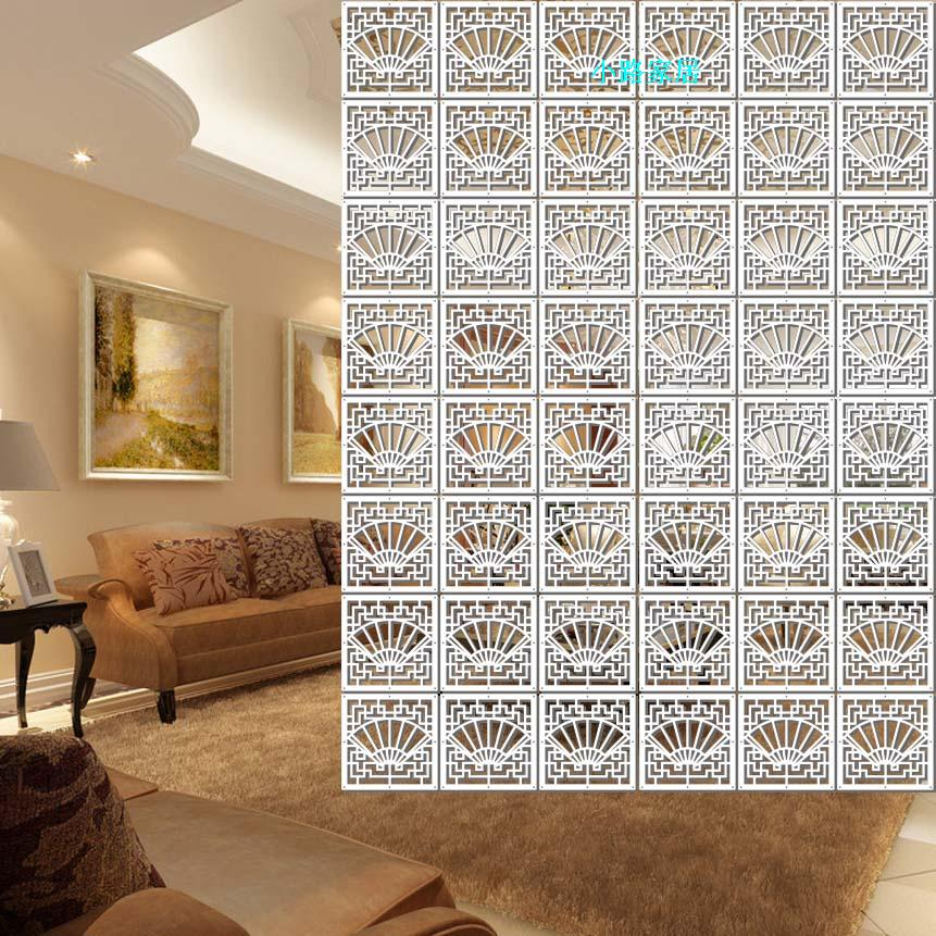 Continental Carved Screens Cut Off The Entrance Curtain Hanging Room  Partitions Living Room Bedroom PVC Decorative Finishes