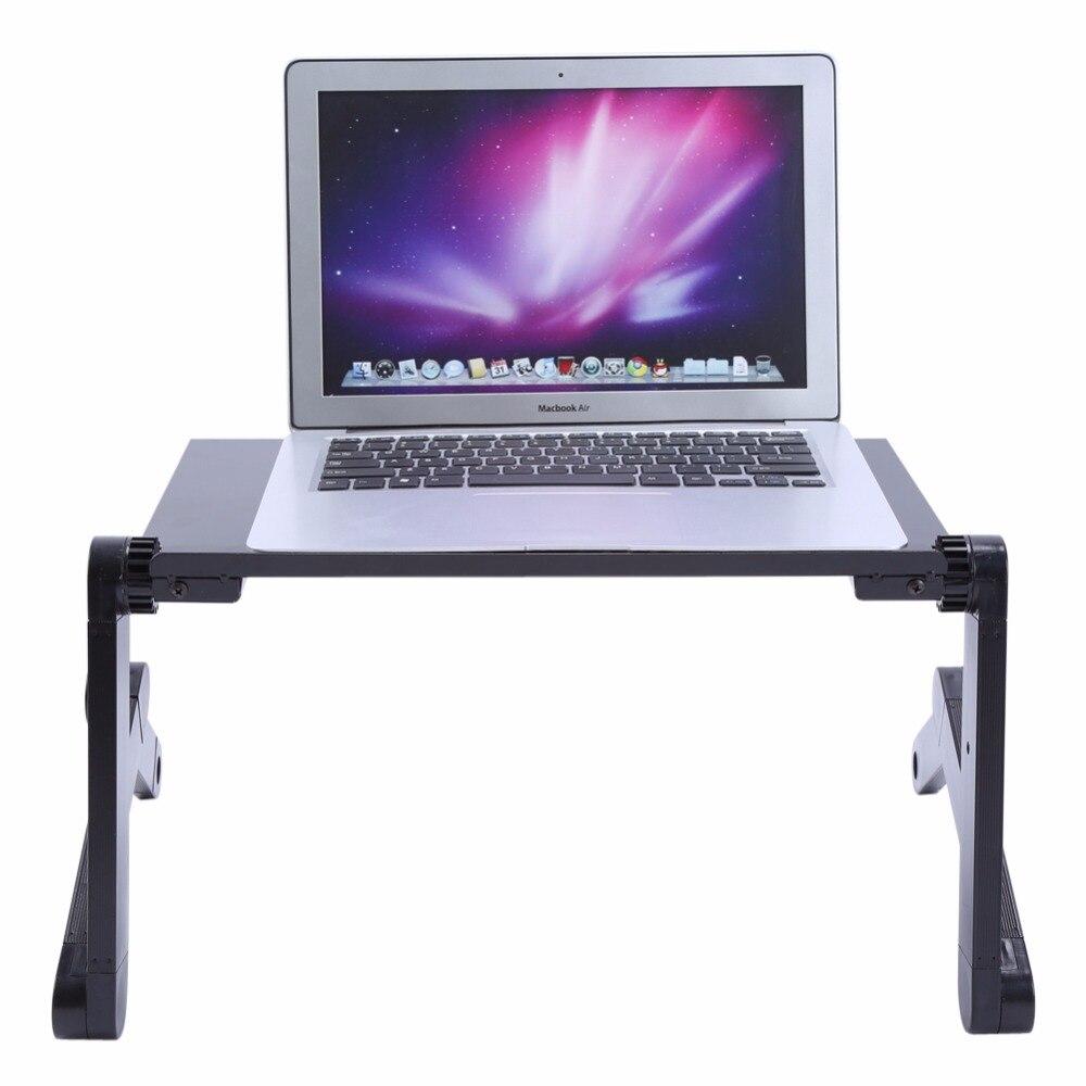 Image 5 - Nowe przenośne biurko Laoptop 360 stopni regulowane składane biurka komputerowe Notebook PC składane biurko stół wentylowany stojak łóżeczkoBiurka na laptopy   -