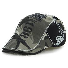 Męskie kapelusz lato oddychająca myte bawełny kamuflaż berety regulowany rozmiar głowy Hip Hop czapki mężczyzna kości osobowość język Cap tanie tanio Bawełna XdanqinX Dorosłych Patchwork Mężczyźni Nowość