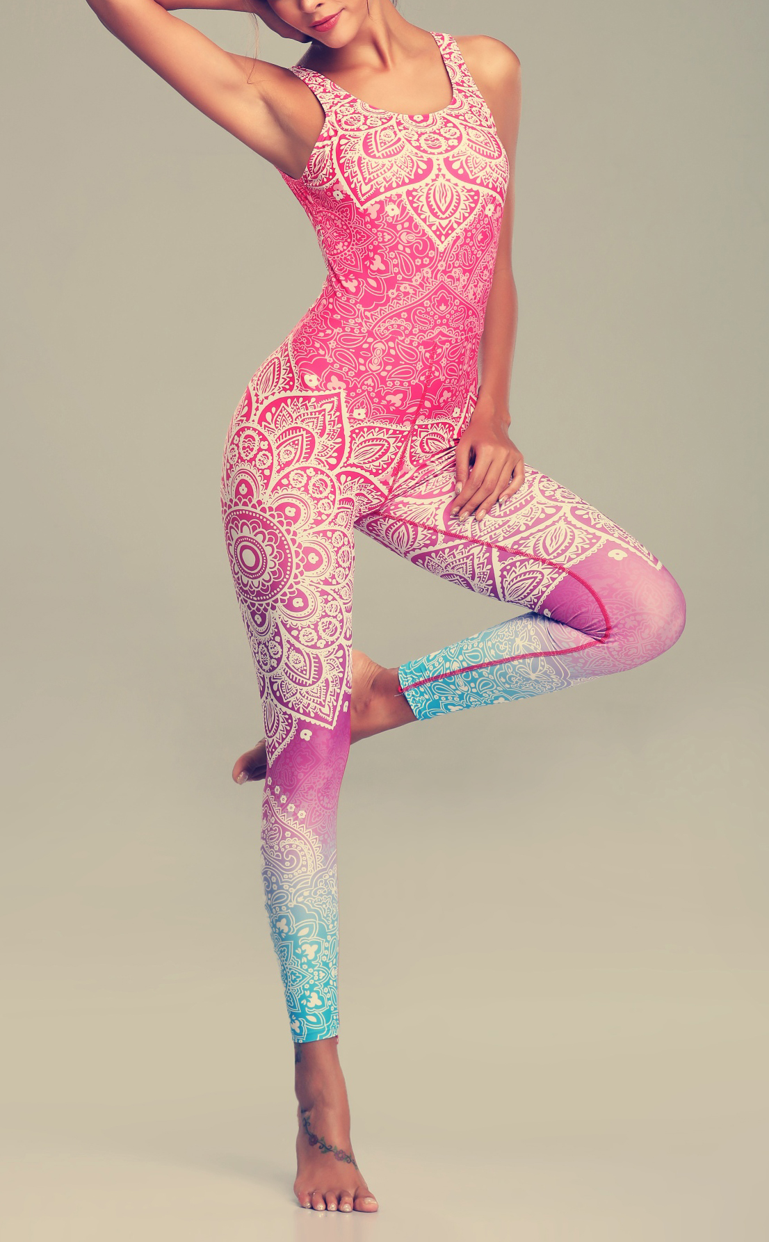 Mandala Yoga & Fitness Set for Women Clothing Tracksuits Womens
