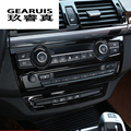 Автомобильный Стайлинг центральный контроль на выходе внутренние кнопки панели декоративные Чехлы наклейки отделка для BMW X5 X6 E70 E71 автомоб...