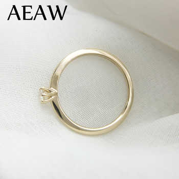 AEAW DF Moissanite Diamond 3mm Engagement Solarite  Ring for Women in 14K Yellow Gold - DISCOUNT ITEM  49% OFF All Category