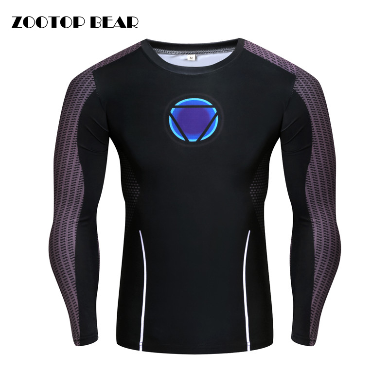 Compression Tops Iron Man Cosplay 3d T shirt Men Tee Capatain America/Spiderman T-shirt 2019 Crossfit Elastic Tee ZOOTOP BEAR