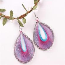 2019 Vintage Drop Earrings For Women Bohemia Geometric Multicolor Dangle Earrings Fashion Summer Jewelry Earrings Accessories
