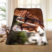 P#107 Custom Horse#16 Home Decoration Bedroom Supplies Soft Blanket size 58×80,50X60,40X50inch SQ01016@H+107