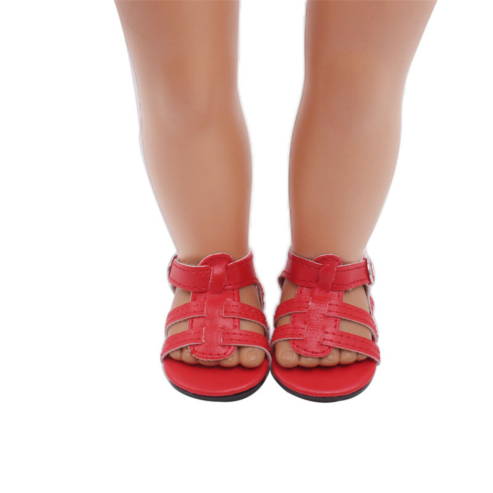 Hot sale Doll Shoes Dress Sandals For 18 Inch Our Generation American Girl Doll 18mar27