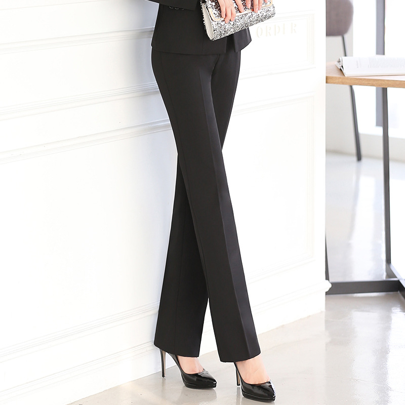 Full Length Professional Business Formal Pants Women Trousers Girl Slim Female Work Wear Office Career Plus Size Clothing XS 5XL