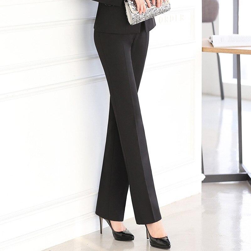 Full Length Professionale Business Formale Pantaloni Delle Donne Dei Pantaloni Della Ragazza Sottile Ufficio Carriera di Usura del Lavoro Femminile Più I Vestiti di Formato XS-5XL