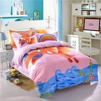 100 Cotton Digital Printing Dinosaur Duvet Cover Set Twin Queen Size Bedding Set For Children Floral