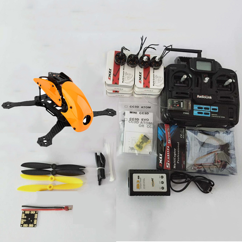 Robocat 270 270mm Carbon Fiber Racing Drone Mini Quadcopter Frame 2204 KV2400 Kit Motor CC3D EVO flight Controller 12A ESC DIY mini zmr250 carbon fiber quadcopter cc3d evo control mt2204 2300kv motor emax blheli firmware 20a esc 5045 prop led lights board