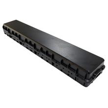 13S5P 48 فولت 10Ah علبة بطارية ليثيوم أيون + حامل + صندوق بطارية ليثيوم النيكل لحزمة بطارية 18650 يمكن وضعها 68 خلية