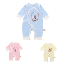 Baby Autumn Spring Cotton Cartoon Deer Style Boy Clothes Newborn Girl Clothing Infant Jumpsuit for