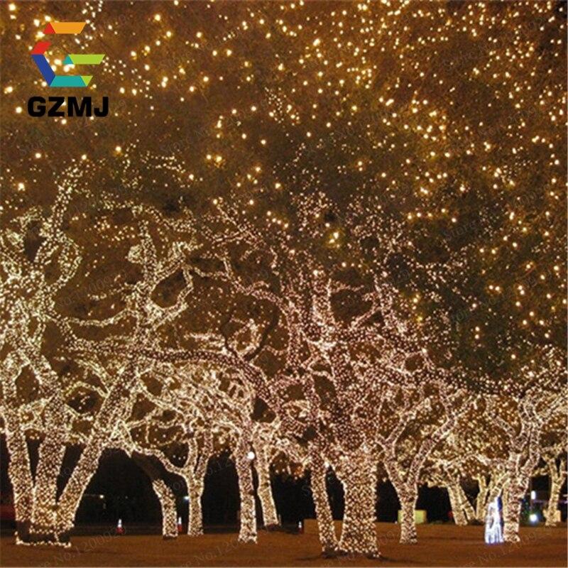 67e9dc23d7b 10 m 100 LED UE enchufe luces de hadas Iluminación para fiestas Navidad  Fiesta jardín al aire libre árbol decoración lámpara Garland cumpleaños