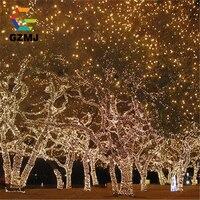 10M 100 LED EU Plug Fairy Lights Holiday Lighting Xmas Holiday Party Outdoor Garden Tree Decoration String Lamp Garland Birthday