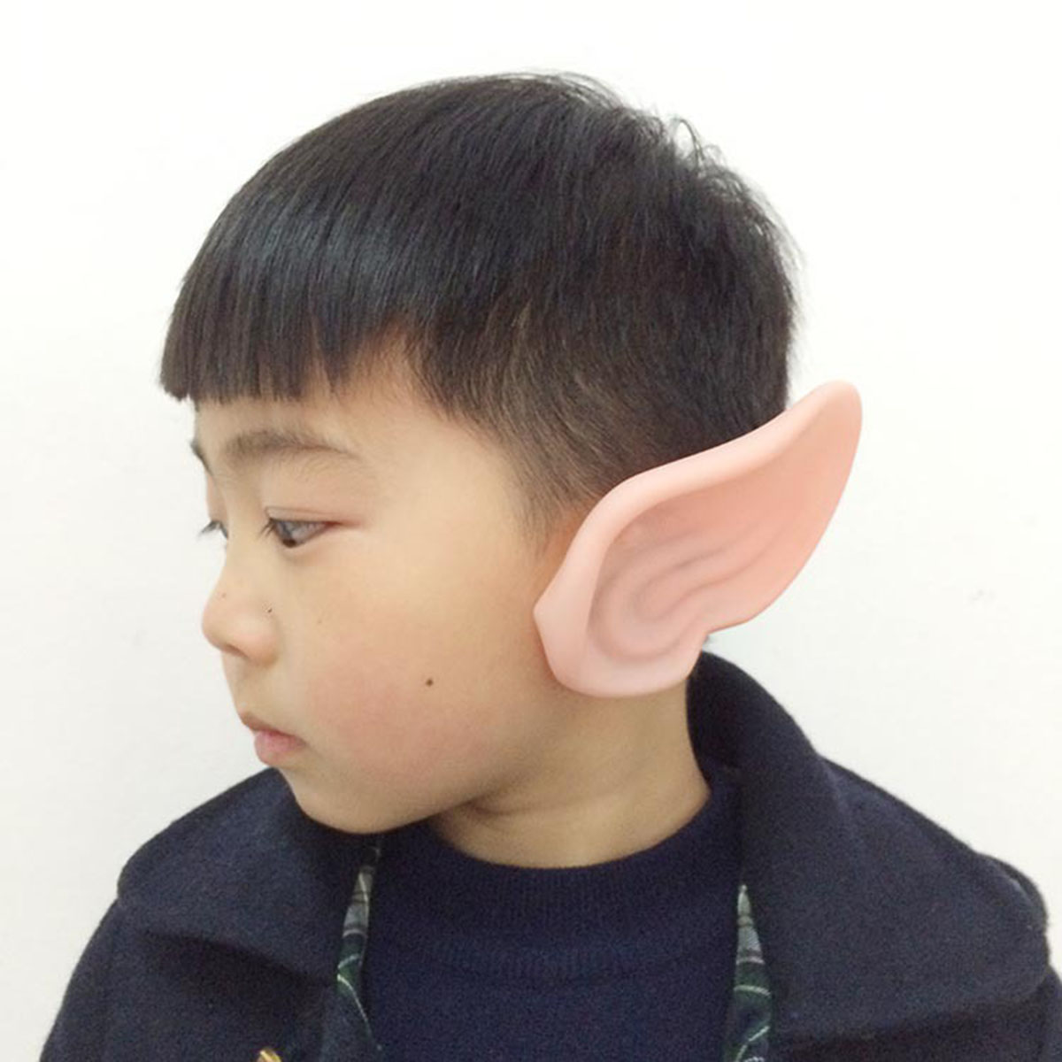 1 Pair PVC Fairy Pixie Fake Elf Ears Halloween Mask New Party Mask Scary Halloween Decoration Soft Pointed Prosthetic Ears 10c 3