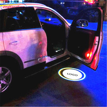 JingXiangFeng 2PCs LED Car door welcome light Case For Suzuki Led Logo Light courtesy led car laser projector GMC