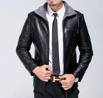 1728  New Fashion Fur Jacket Springwith Male Sheepskin Cashmere JACKET Coat Man Autumn &Winter Jacket MAN LEATHER COAT