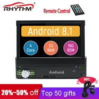 Android 8.1 Car Radio GPS Quad Core Universal 1Din Car Stereo 7 Touch Screen AutoRadio Player BT WIFI Mirror Link FM AM (no dvd