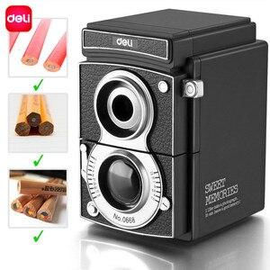 Image 2 - Deli 0668 manual pencil sharpener Vintage Camera Pencil Sharpener Creative Hand Pencil Sharpener Student Gift Pencil Sharpener