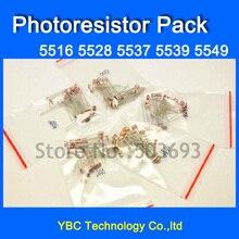 5valuesX40pcs=200pcs Photoresistor Kit 5516 5528 5537 5539 5549 Photosensitive Resistor Pack Light Dependent Resistors