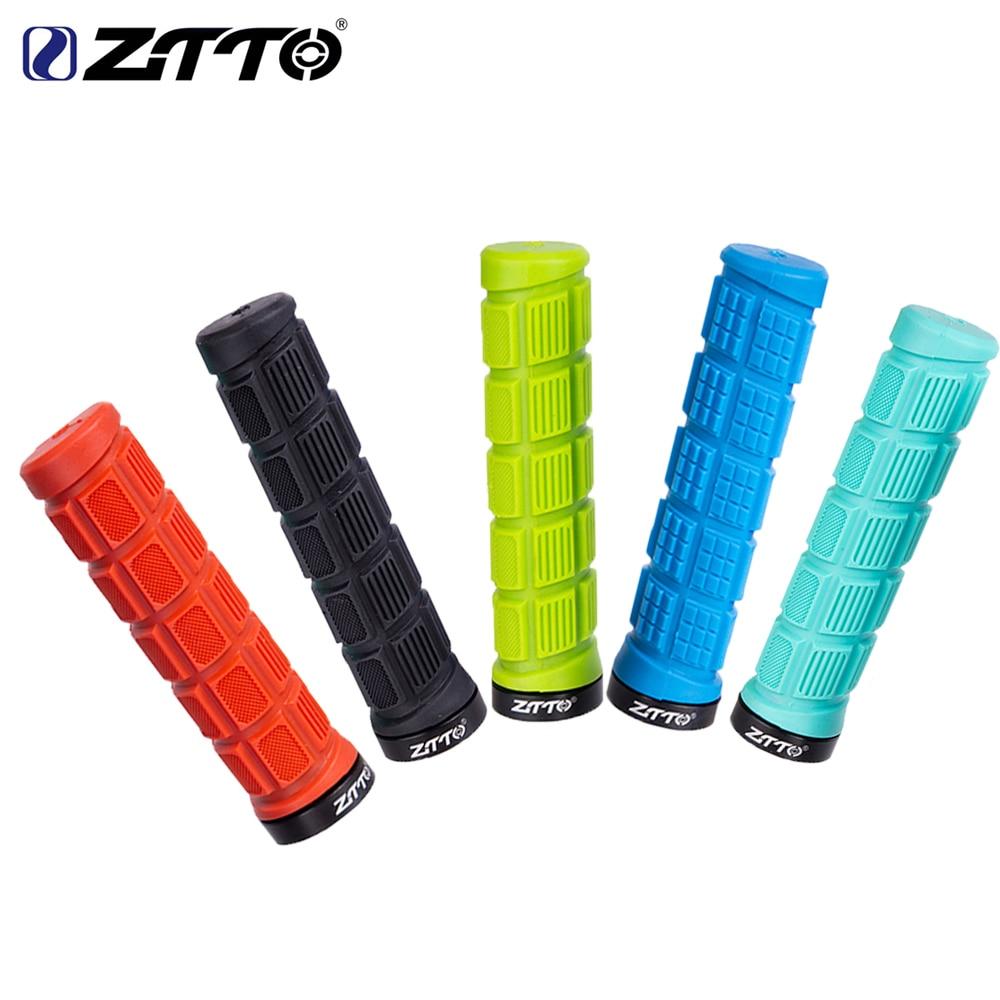 ZTTO 1 Pair MTB Mountain Bike Handlebar Grips Durable Shock Proof Rubber Anti Slip Fixed Gear
