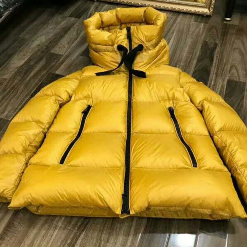 2019 New Women Winter Thick Warm 90% White Duck   Down     Coats   Hood Lady Medium Long Hooded Parkas Snow Outerwear Jackets Yellow Hot