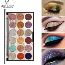 MISS ROSE 18-color sequin glitter eye shadow disc Glitter shiny powder high-gloss