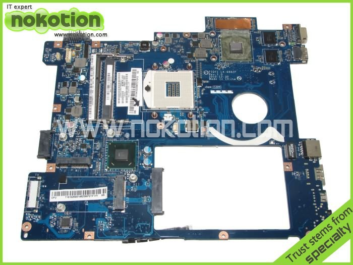 NOKOTION PIQY1 LA-6882P Laptop Motherboard for lenovo Y570 Intel HM65 N12P-GT1-A1 ddr3 pga989 Mainboard nokotion laptop motherboard for lenovo g570 la 675ap mainboard intel hp65 ddr3 socket pga989