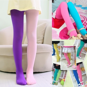 Girls Leggings Double Candy Color Warm Stockings Kids Pantyhose Underpants