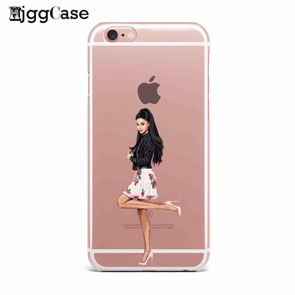 Sexy Singer Ariana Grande Cases PC Plastic Hard Shell Phone Case Cover For  Apple Iphone 4 4S 5 5S SE 5C 6 6S 6Plus 7 7Plus Case