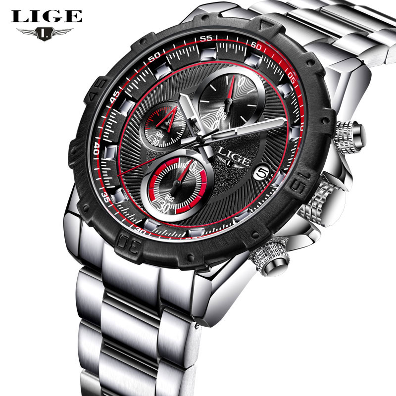 2017 LIGE Men Watches Top Brand Luxury Men's Sport Quartz Watch Man Fashion Full Steel Date Waterproof Clock Relogio Masculino lige mens watches top brand luxury man fashion business quartz watch men sport full steel waterproof clock erkek kol saati box