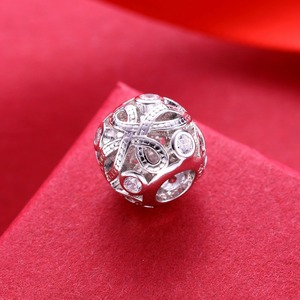 Image 2 - Video! Chinese knot 925 Sterling Silver beads charms fit Bracelets Never change color DDBJ103