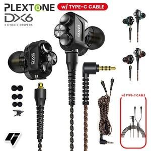 Image 2 - DX6 Auriculares deportivos con cable y Bluetooth, audífonos deportivos con cable tipo C y graves estéreo para Huawei y xiaomi